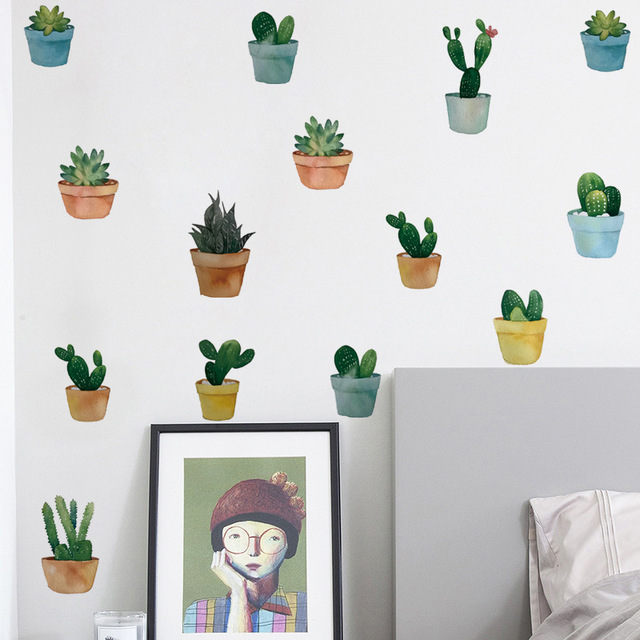 Pot Plant Wall Stickers 8