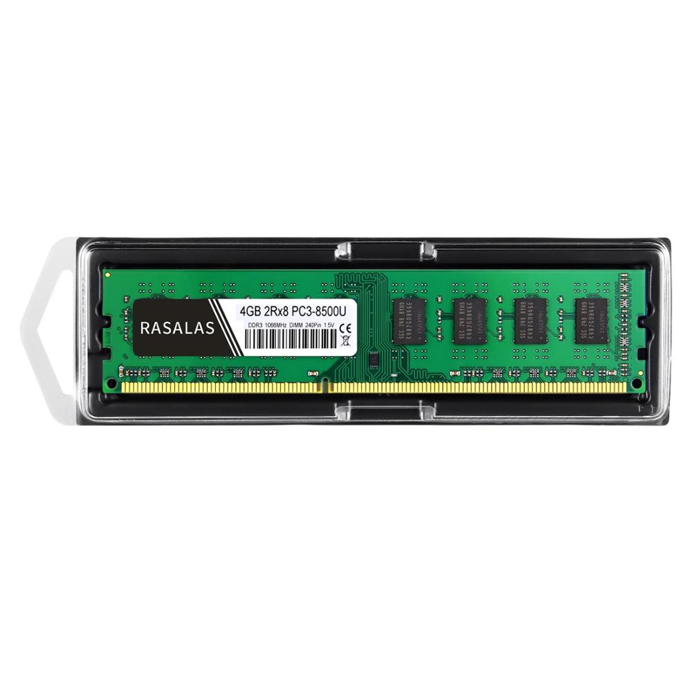 Rasalas 8 GO 4 GO DDR3 1600Mhz 1333Mhz PC3-10600U 1,5 V 1.35V DIMM ordinateur de bureau RAM 240Pin Mémoire