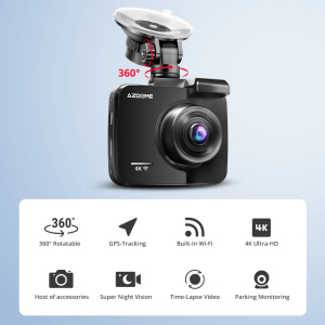 Image 2 - AZDOME GS63H 4K/2880*2160P WiFi Car DVRs Recorder Dash Cam Built in GPS WDR Night Vision Support Dual Cam Rear Back Camera