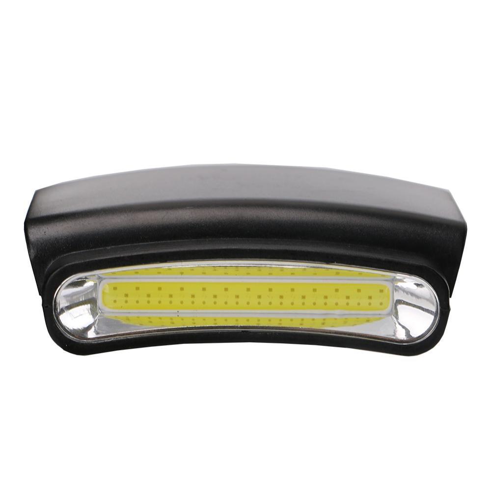 COB LED Clip Auf Weiß Taschenlampe Kopf Licht Kappe Hut Scheinwerfer 3 Modi Radfahren Wandern Camping Scheinwerfer mit 3 * AAA batterie