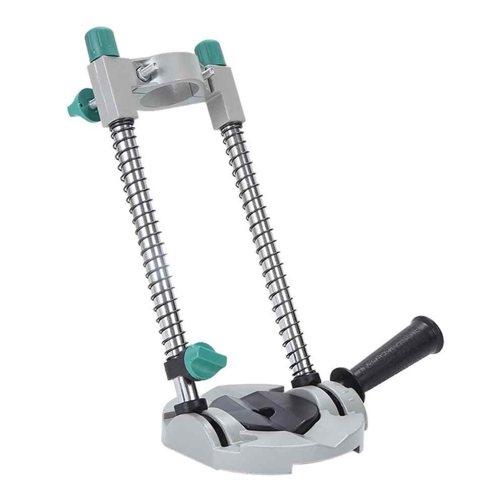 Suporte de broca elétrica, ângulo ajustável, guia de broca, posicionamento, suporte para broca, trabalho, reparo, carpintaria, ferramenta # f5