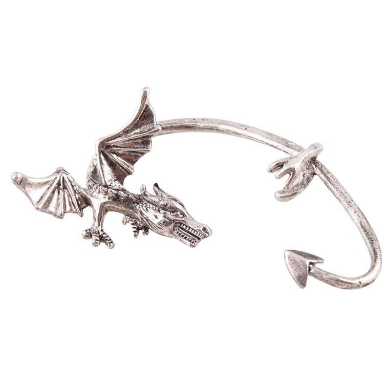 ホット女性のためのクールなピアスかわいいスタイルロックパンク Temtation 飛龍の耳カフクリップイヤリング #22642