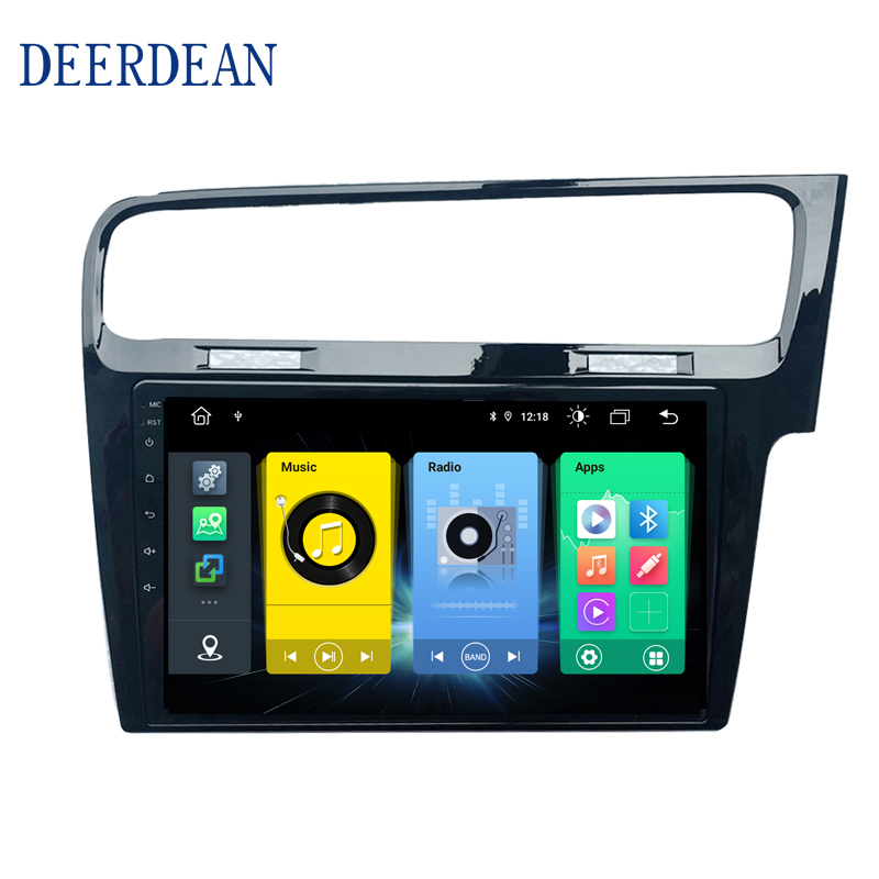 Android 9 Car Radio GPS Navigation Player Stereo wifi Multimedia Player For <font><b>Volkswagen</b></font> <font><b>Golf</b></font> 7 <font><b>MK4</b></font> Mk7 2013--2018 RHD Right Hand image