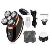 1 комплект Многофункциональный 4-в-1 интеллектуальный цифровой дисплей Для мужчин бритвенная головка машины 5-головка электробритва перезаряжаемая электрическая бритва