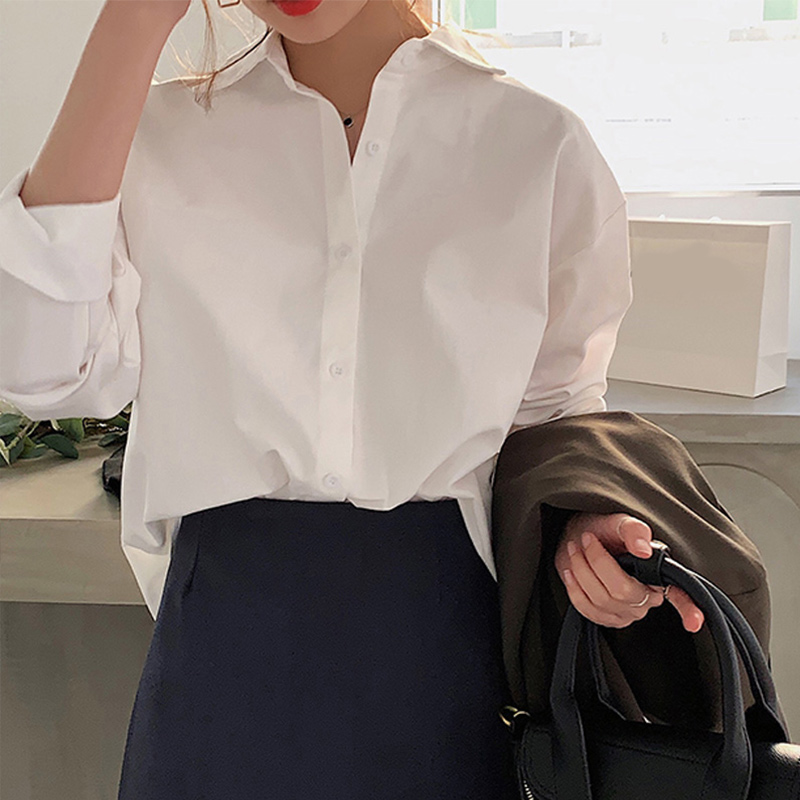 Summer Plus Size 4XL Long Sleeve Women's Shirts Pink Single Breasted Ladies Office Shirt 2020 Korean Casual Chiffon Tops Female