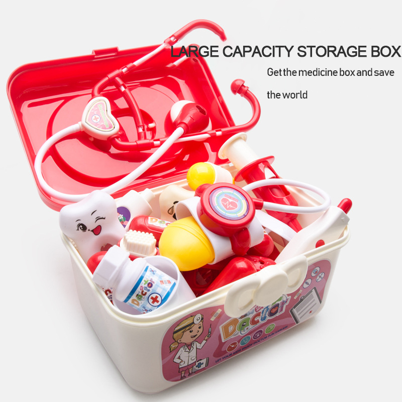 Kids Doctor Set Pretend Play Girls Role-playing Games Hospital Accessorie Medical Kit Nurse Bag Toys Children Christmas gift