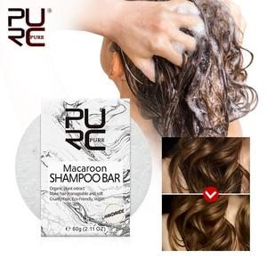 PURC Organic Natural Macaroon Shampoo Bar Handmade Cold Processed Dry Shampoo Soap Solid Shampoo Bar Hair shampoo