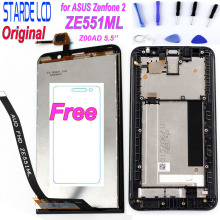 5.5'' Original LCD for ASUS Zenfone 2 ZE551ML LCD Display Touch Screen Digitizer with Frame for ASUS Zenfone 2 ZE551ML Z00AD LCD сотовый телефон asus zenfone 2 ze551ml 4gb ram 32gb gold