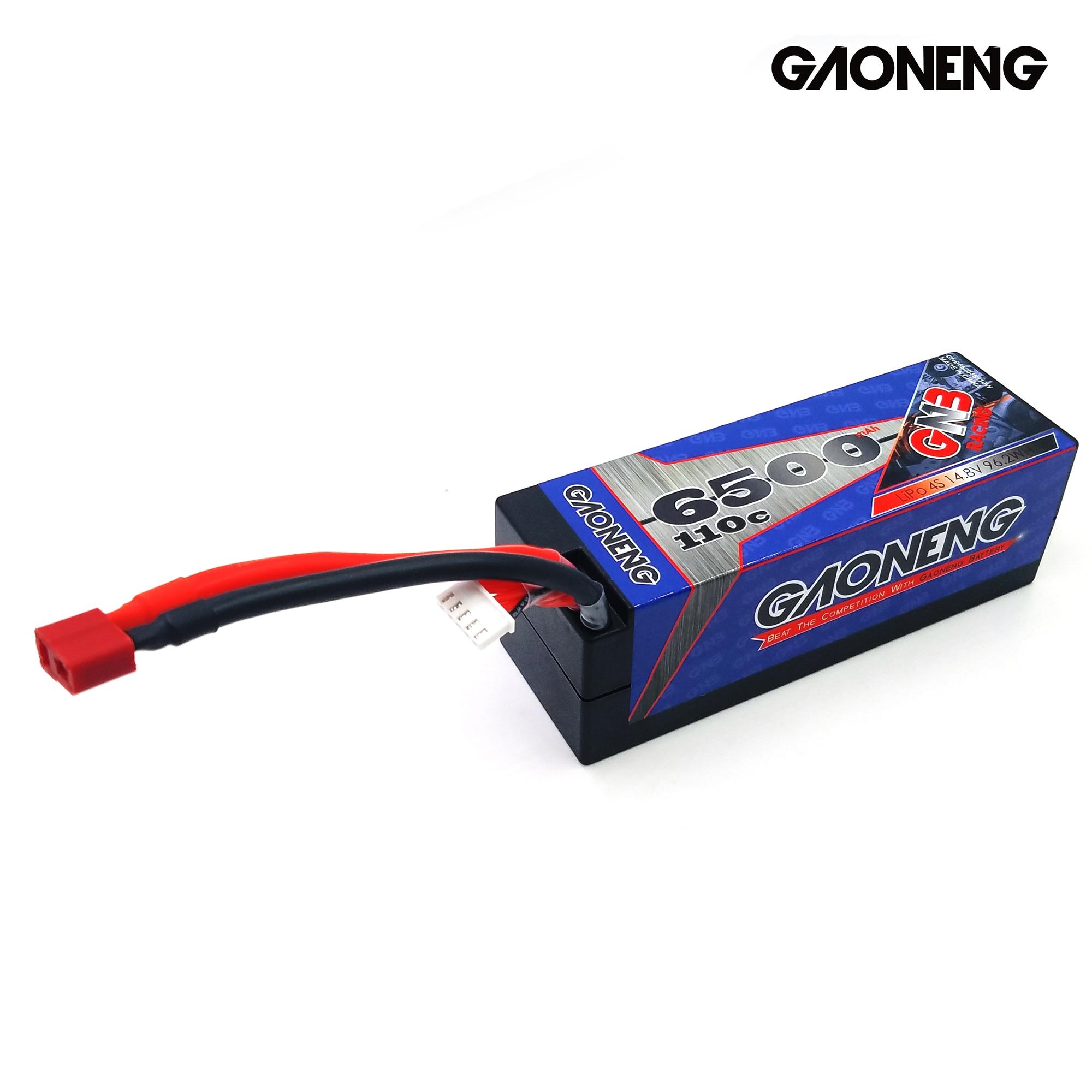Gaoneng GNB 6500mAh 4S 14,8 V 110C/220C твердый корпус LiPo батарея T Разъем для RC HPI HSP 1/8 1/10 багги RC автомобиль Грузовик Рок Гусеничный - 4