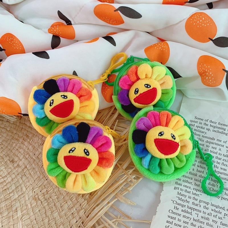 Bags Cute Wallet Sunflower Small Pouch Coin-Purses Plush-Girls Children Kawaii Korean-Style