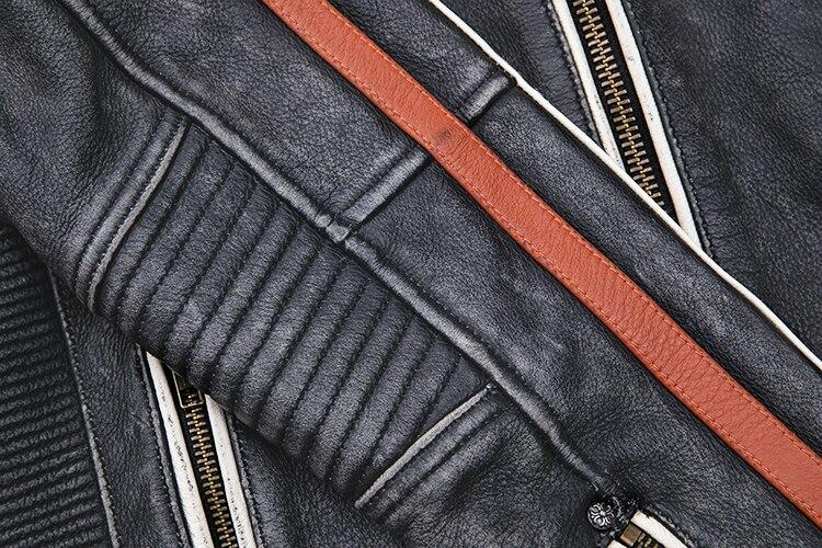 H3e45a22ff0b249d89c91c42d0cdddd77L 2019 Vintage Black Men Leather Motorcyclist Jacket Skull Embroidery Plus Size 3XL Genuine Cowhide Short Biker Coat FREE SHIPPING