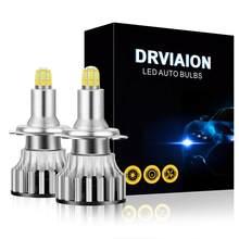 Carro automático led h7 18000lm 8 lados 110w 3d led faróis lâmpadas de alta potência 360 graus lâmpada alta ou baixa feixe luzes sinal da motocicleta