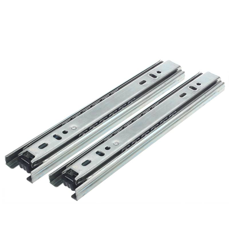 "2 Pcs x 8"" 2 fold Ball Bearing Telescopic Cabinet Drawer Slide Rails
