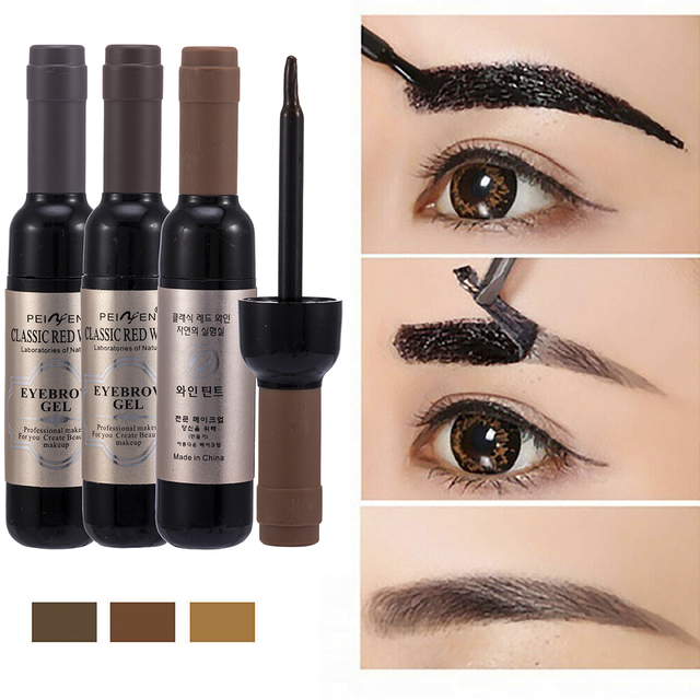 1 Pcs Eyebrow Gel Black Coffee Gray Peel Off Eye Brow Tattoo Shadow Eyebrow Gel Cosmetics Makeup for Women High Pigment Makeup