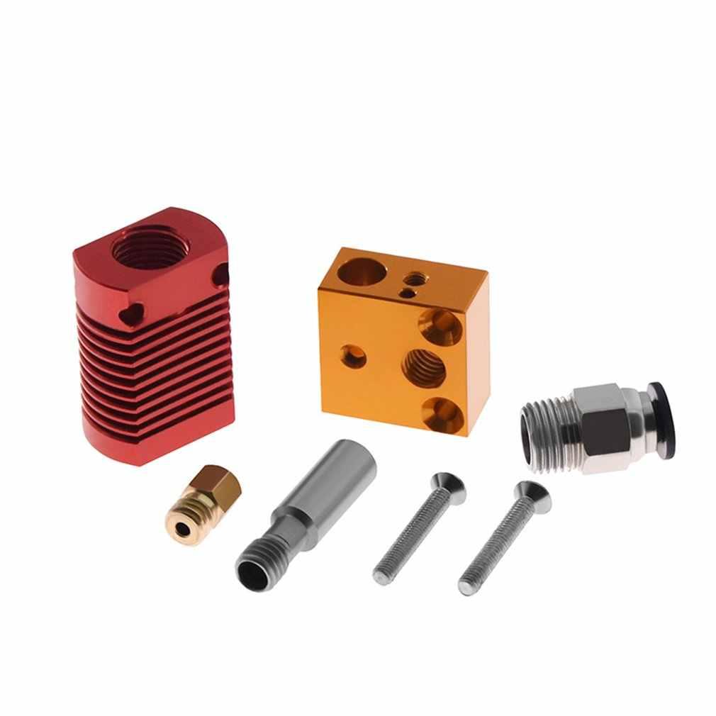 Kit de extrusora de metal para saída Ender-3/5 pro, kit de extrusora j-head 3d de metal completo, com extremidade quente extrusor bowden 12/24v 3d, peças da impressora