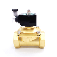 High Temperature 1.5inch Gas Solenoid valve dn40 12v Normally Closed 2 Positions solenoid connected