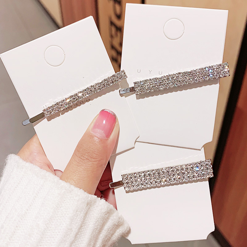 New Women Luxury Shining Crystals Barrettes Sweet Party Hair Ornament Hairpins Side Clips Headband Fashion Hair Accessories