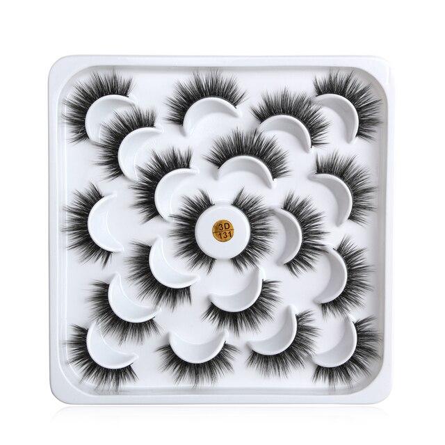 5/6/9/10 Pairs 3D Mink Lashes Natural Long False Eyelashes Dramatic Volume Wispy Fake Eyelashes Extension Makeup Wholesale 1