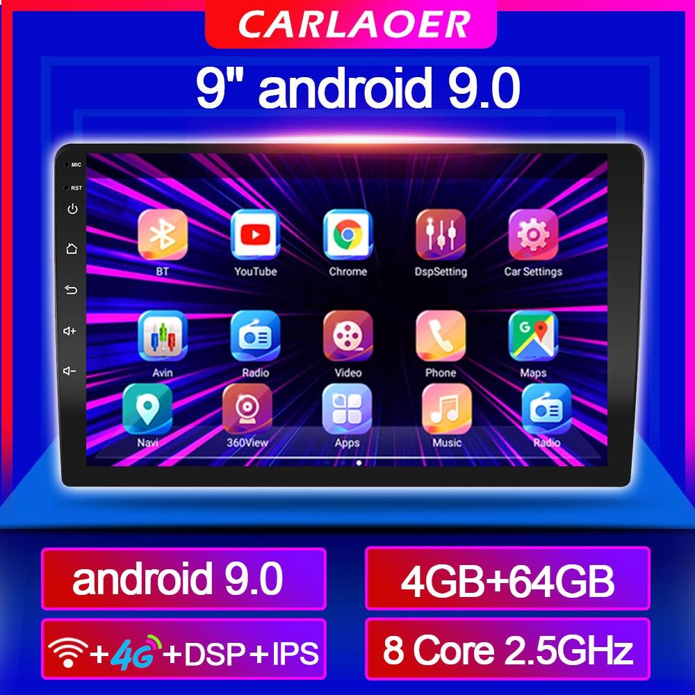 9 inche carro android 9.0 rádio multimídia para toyota nissan honda volkswagen subaru radar ford kia hyundai jeep peugeot renault