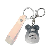 New jewelry pendant cute mouse acrylic keychain men and women student bag car birthday pendant key ring accessories small gifts