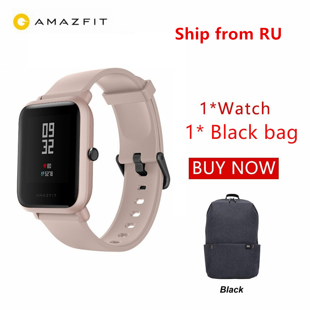 Huami Amazfit Bip Lite Smart Watch Bluetooth Sport Heart Rate Monitor 3M Waterproof PK Xiaomi Amazfit Bip Smartwatch RU Shipping