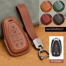 Новый кожаный чехол для брелка с ключом брелок дистанционного ключа оболочки держатель Chevrolet Chevy Camaro Malibu Cruze Spark вольт 2019