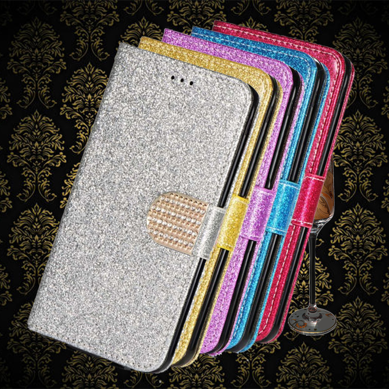 Bling Glitter Diamond Leather <font><b>Case</b></font> For <font><b>Samsung</b></font> Galaxy <font><b>Grand</b></font> <font><b>2</b></font> <font><b>G7102</b></font> G7105 Y Wallet phone cover image