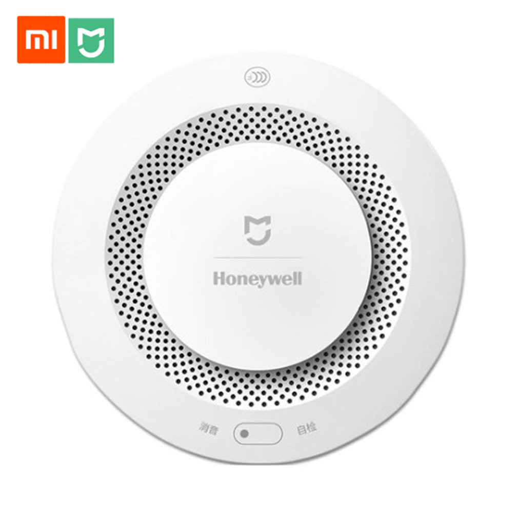 Original Xiaomi Mijia Honeywell Fire Alarm Detector Remote Control Audible Visual Alarm Notication Work With Mi Home APP