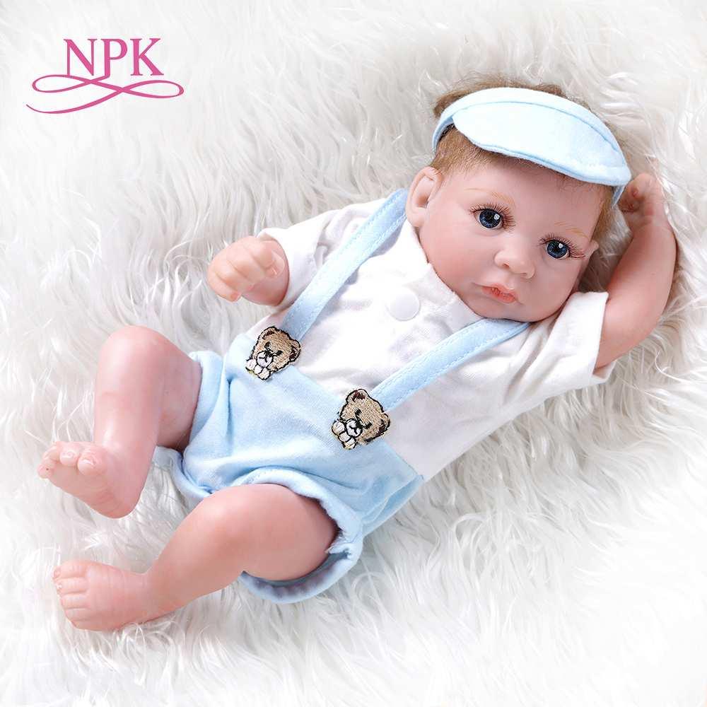 NPK 26CM mini reborn baby dolls boy premie doll very cute small handfuls of fun collectible Chrismas Gift