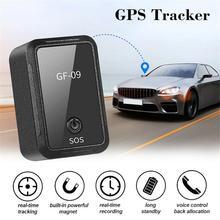 Localizador de dispositivos antirrobo con Control por aplicación de GF 09, rastreador Mini GPS, grabadora de voz magnética para vehículo/coche/persona