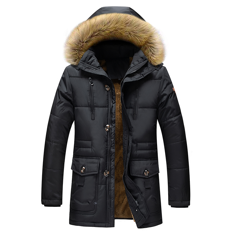 Winter Jacket Men Stand Collar Male   Parka   Jacket Mens Military Solid Thick Jackets and Coats Man Winter   Parkas   M-7XL;YA501