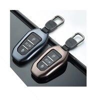 Fiber Alloy Car Key Case Cover Keyless Fob Shell For Peugeot 208 308 508 3008 5008 for Citroen C4 Picasso DS3 DS4 DS5 DS6