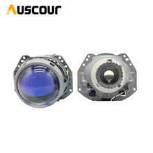 "3.0""Blue Coating Full Metal H4 Hella5 HID Bi Xenon Retrofit Car Headlight For D2S D2H Xenon Bulb Car Assembly Headlight Modify"