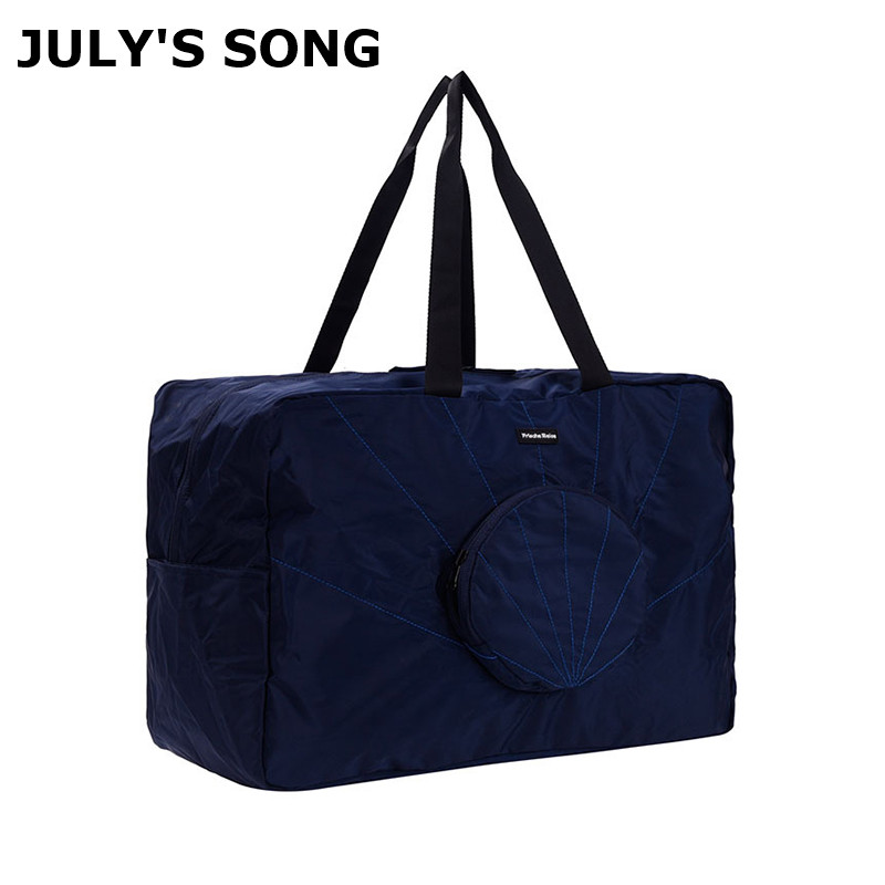 JULY'S SONG Foldable Travel Bag Waterproof Memory Spinning Luggage Duffle Bag Large Capacity Folding Shell Packing Cubes Handbag