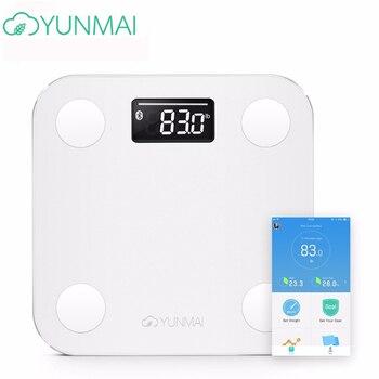 Горячая продажа белый смарт Yunmai Премиум мини весы бытовые весовые весы напольный процент жира цифровые весы для взвешивания жира