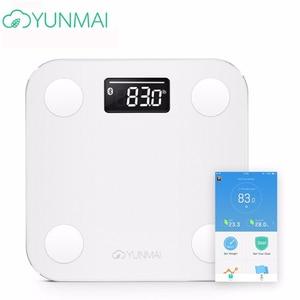 Gran oferta, báscula blanca Smart Yunmai Premium Mini, báscula de peso para el hogar, báscula Digital para medir grasa corporal