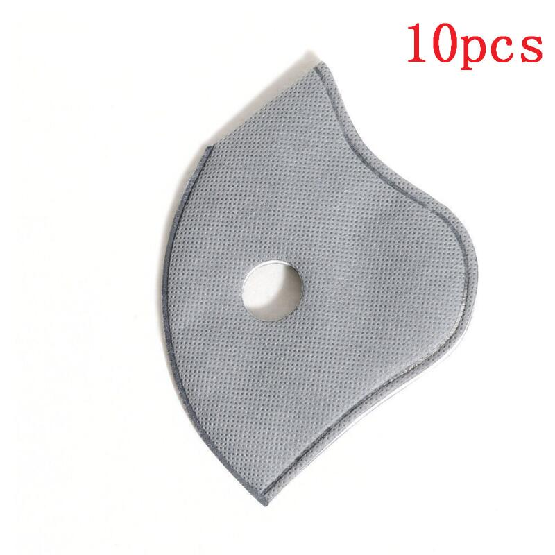 10Pcs Dust Mask PM2.5 Activated Carbon Breathable Filter Outdoor Cycling Running Protection Skiing Mouth Muffle Face Mask