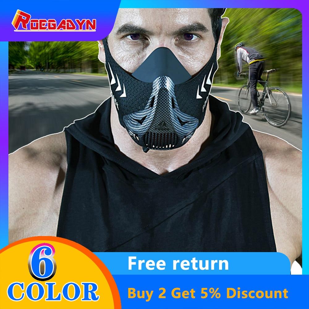 Kebugaran Heart Paru-paru Pelatihan Masker Pria Wanita Lari Masker Kontrol Udara Sepeda Berkuda/Bersepeda Masker Olahraga