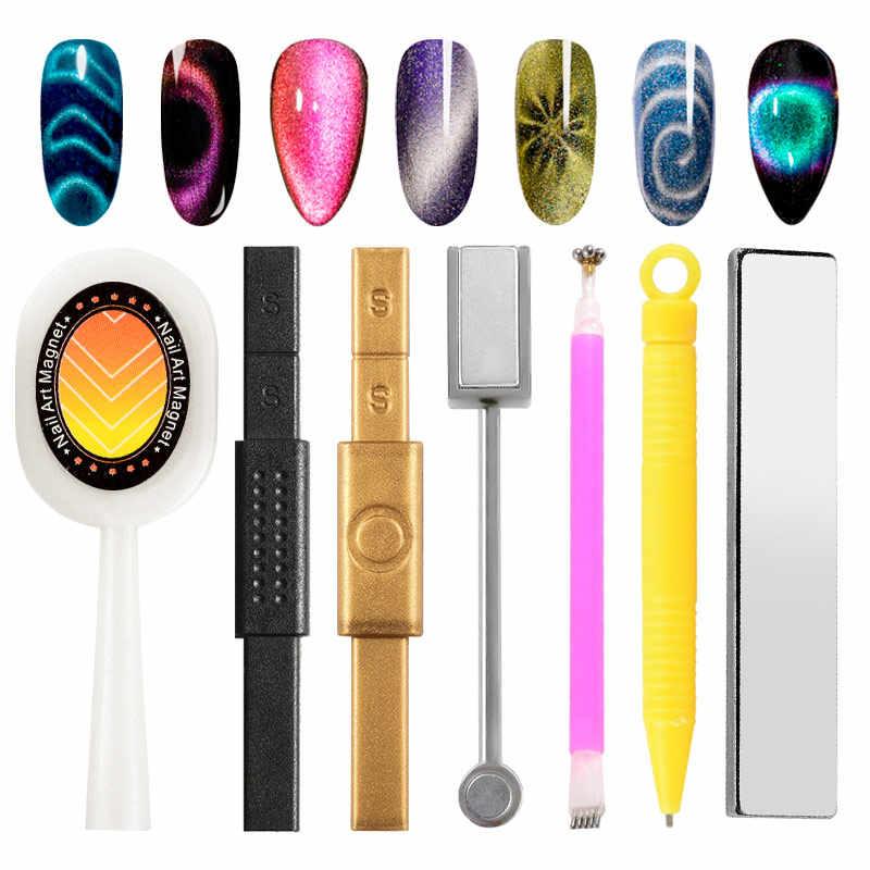 Cat Eye Gel Magnet Set Magnetik Papan Tebal Kuat Magnet Stick untuk Langit Berbintang Jade Efek Uv Gel Cat Kuku art Pernis