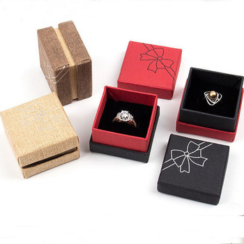 Box For Jewelry Square jewelry organizer box Engagement Ring For Earrings Floral Jewelry Ring Carrying cases 5.1x5.1x3.5cm