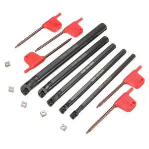 Image 1 - 5 個ボーリングバーtunringツールsclcr 6 7 8 10 12 ミリメートル 5PcsCCMT0602 挿入 95 度右手ブレード · インサート旋削工具セット