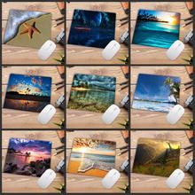 Big Promotion Print Rubber Mousepads for Beach and starfish Mice Mat DIY Design Computer Gaming Mouse Pad 22X18CM