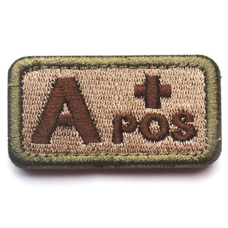 Tactical Blood Type Patch Military Bloodtype Patch Embroidered Morale Military Badge For Outdoors