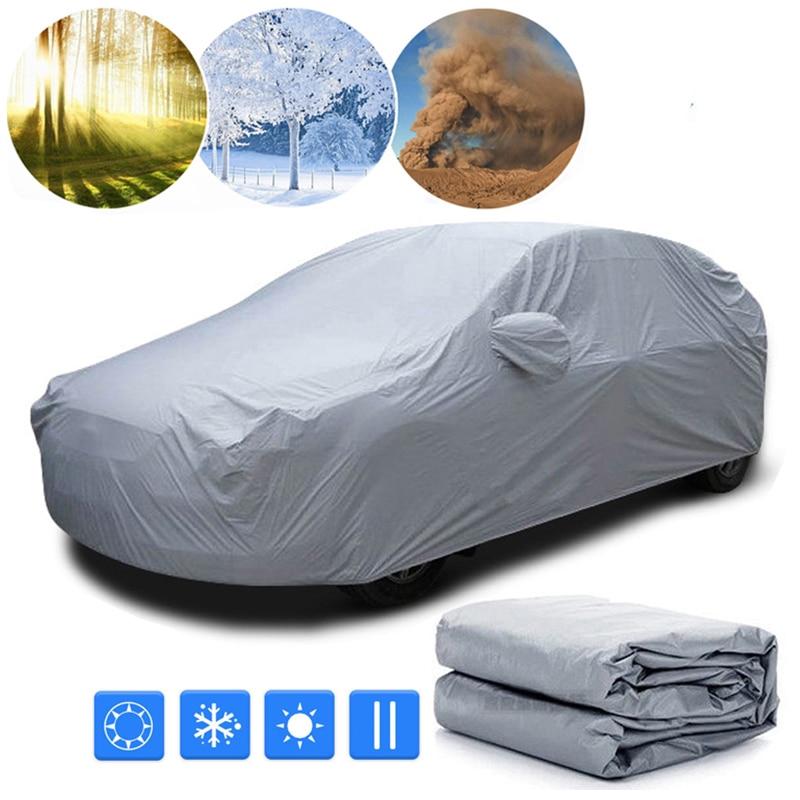 Frente del coche Wndow/cubierta de la cubierta completa parasol Protector para exterior, viento nieve polvo lluvia cubierta protectora Auto Accesorios Estilo
