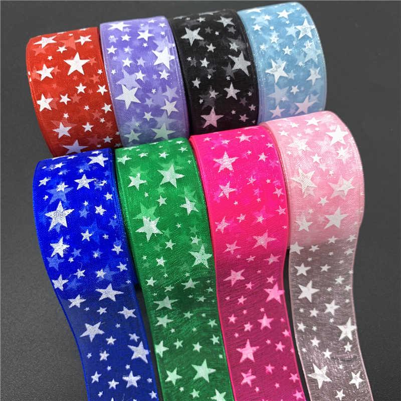 5Yards//Lot 38mm Satin Edge Organza Ribbon Bow Hair Wedding Christmas Decoration
