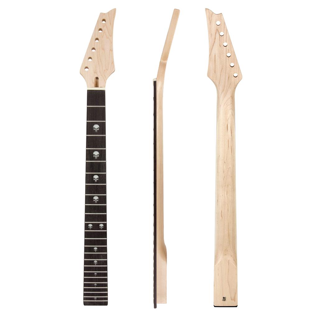 Kmise Electric Guitar Neck 24 Large Frets Canada Maple Bolt On HPL Fretboard C Shape