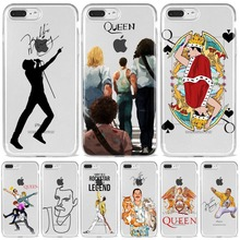 Phone Case For Coque iPhone X XR XS 11 12Pro Mini Max 8 7Plus 6SPlus SE Freddie Mercury Queen band Soft Silicone Fundas Cover