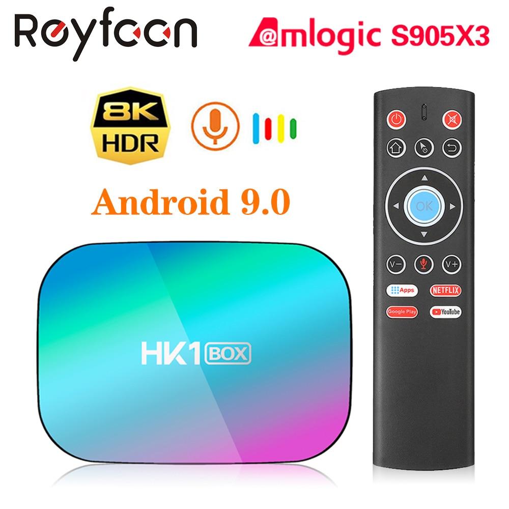 HK1 BOX 8K 4GB 128GB TV Box Amlogic S905X3 Android 9.0 1000M Dual Wifi 4K 60fps Google Player Netflix Youtube Media Player 32GB