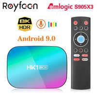 HK1 caja de 8K 4GB 128GB TV caja Amlogic S905X3 Android 9,0 de 1000M Dual Wifi 4K 60fps reproductor de Google Netflix, Youtube reproductor de medios 32GB