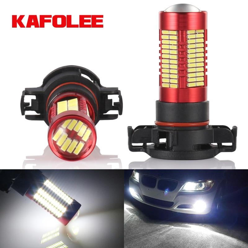 GZKAFOLEE Super high brightness Error Free canbus PS24W LED PSX24W 5202 5201 H16 5205 9009 PS19W High Power Car Fog Light Bulbs(China)